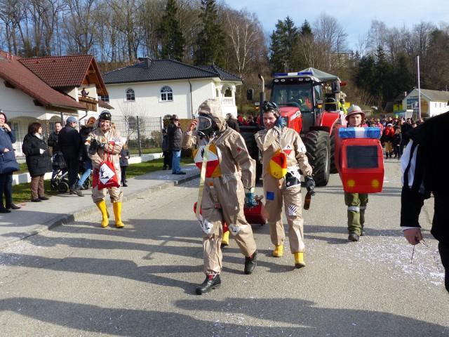 Faschingsumzug Freiwillige Feuerwehr Langenstein